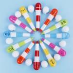 创意广告笔,促销活动笔,胶囊药丸笔定制logo_多色可选