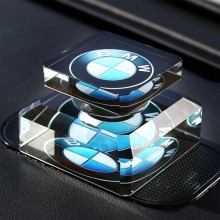 创意车标水晶车载香水座