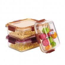 厨房带盖密封便当盒_微波炉/冰箱保鲜盒_可定制LOGO