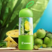 便携式电动榨汁 多功能迷你榨汁机 家用果汁机 圣塔斯图logo定制