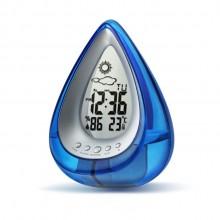 创意环保水动力发电水能钟 水滴型天气预报时钟 desk clock
