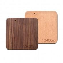 枫木红木竹木正方形木头 超薄移动电源