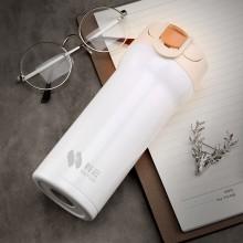 科云定制 锁扣咖啡杯保温杯创意水杯子双层不锈钢真空礼品杯运动水壶