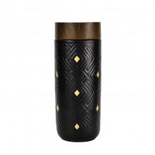 乾唐轩活瓷 鎏金奇迹木纹盖随身杯双层350ml