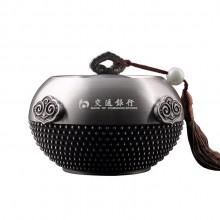 交通银行定制如意四方茶叶罐 纯锡材质 年终送礼最佳之选可定制logo