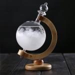 创意玻璃工艺品地球仪旋转天气预报瓶风暴瓶