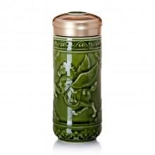 养生杯双层随身杯高档陶瓷杯商务杯 养生杯 可定制 logo