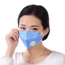 加棉加厚口罩  带呼吸阀 防雾霾 折叠无纺布