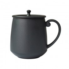 马克杯陶瓷杯 带手柄带盖高档创意礼品
