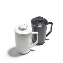 定窑陶瓷马克杯过滤带盖陶瓷茶杯创意杯子