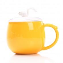陶瓷办公杯 带过滤咖啡杯 口福杯 花茶随手杯