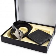 皮带礼盒头层牛皮钱包套装