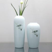 清茗居批发创意摆件简约现代家居工艺品景德镇手绘陶瓷花瓶花器