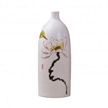 景德镇陶瓷工艺品 时尚客厅家居手工摆件陶艺三件套花瓶花插