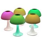 七彩硅胶小夜灯蘑菇礼品usb充电夜灯
