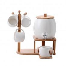 创意陶瓷水杯 佩戴水龙头咖啡水果水壶套装 可定制logo