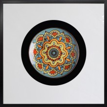 立体实物陶瓷盘软装样板房有框挂画