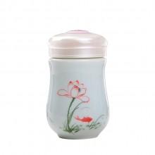陶瓷保温杯 茶杯 纯手绘情侣水杯
