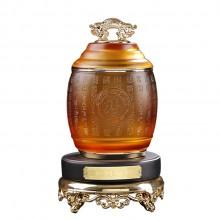 古法琉璃工艺品茶叶包装罐茶饼罐