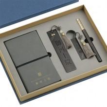 笔记本商务 铜木笔 U盘 文创书签 商务套装