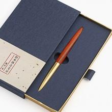 黄铜实木签字笔木制笔杆黑色水笔高档商务礼物个性定制红木中性笔