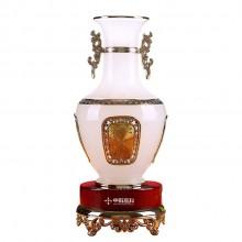 大富大贵花瓶摆件琉璃玉工艺品