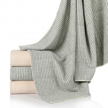 日系良品条纹全棉浴巾 生活馆纯棉加厚柔软吸水大毛巾 可定制LOGO