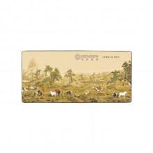 中国风特色礼品丝绸桌垫高档长鼠标垫