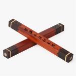 中国风创意礼品文房四宝套装复古黑檀木质镇尺