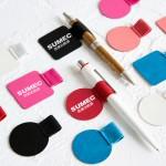 笔记本配件自粘式皮质笔夹绑带本橡筋笔插LOGO定制