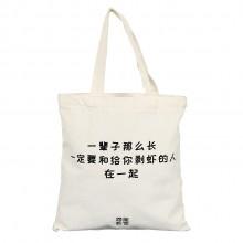 便携式帆布袋手提袋背包环保袋 手提袋  可定制logo