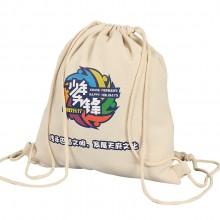 便携束口袋 帆布环保袋 手提袋双肩包 帆布袋子  可定制logo