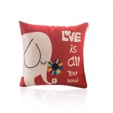 满版印刷棉麻抱枕被,定制企业logo