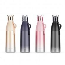 艾可思新款皇冠保温杯304不锈钢杯保温壶渐变色创意个性水杯