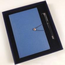 笔记本套装礼品定制logo 金属签字笔logo礼品平装记事本定制厂家