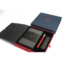 商务笔记本红木笔套装