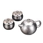 999纯银鎏银茶具
