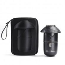 美的定制便携茶具案例 江湖快客杯黑陶一壶二杯