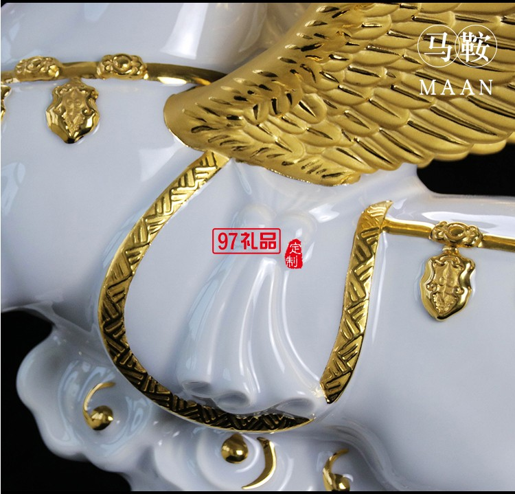 创意树脂生肖马摆件 马到成功欧式家居饰品 可定制LOGO