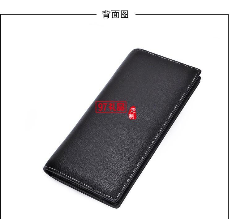 啄木鸟商务礼盒套装长款钱包真皮钥匙包头层牛皮
