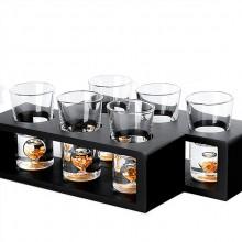 分酒器 水晶玻璃茅台小酒杯 创意金箔烈酒杯酒壶酒具礼盒套装