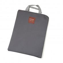 拉链多功能多层A4文件袋手提iPad电脑包手机牛津帆布公文包