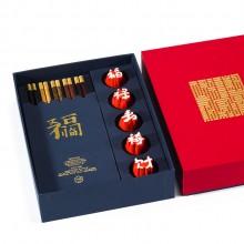 字器吉意杯筷箸套装福禄寿禧财汉字文化杯中国风乔迁礼品