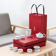 陶瓷功夫高白茶具套装青花瓷茶具