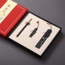 高档创意黑檀木制复古典中国风手工流苏书签商务礼品