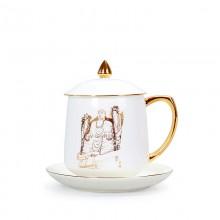 高档白瓷办公杯 企业礼品定制水杯 文创衍生品杯子 博物馆衍生品