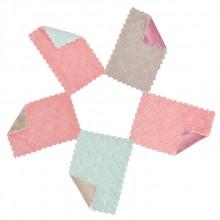 珊瑚绒抹布双面双色不沾油清洁布素色加厚吸水洗碗布厨房清洁去污