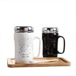 创意十二星座保温杯家居陶瓷杯定制logo 马克杯礼品盒装日用百货