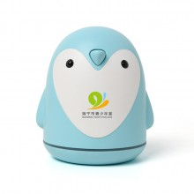 企鹅香薰夜灯加湿器 车载卡通送朋友空气净化USB外贸三合一礼品定制