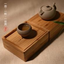 葫芦 素陶定制手作老岩泥快客杯旅行茶具 送老师长辈 文创礼品
